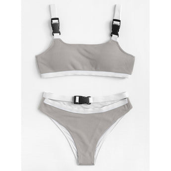 Contrast Trim Bikini Set - Trendi Fashions Boutique