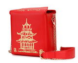 Chinese Takeout Box Messenger Bag - Trendi Fashions Boutique
