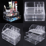 Portable Transparent Makeup Organizer Storage Box