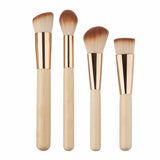 Gold Make Up Brushes | 8 Piece Set - www-trendifashionsboutique-com