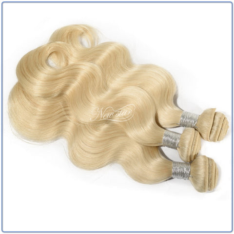 Brazilian Body Wave Platinum Blonde - 3 BUNDLE DEAL
