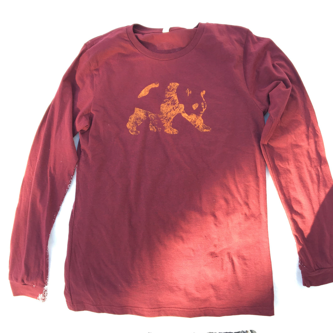 Bamboo L/S - Heather Cardinal