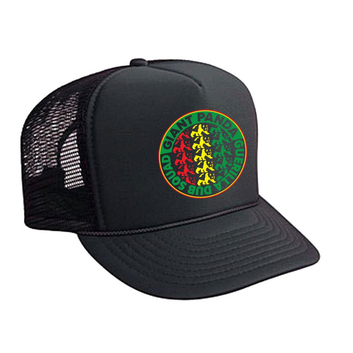 Rasta Circle Logo Mesh Trucker Hat