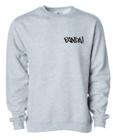 Panda! Crewneck - Heather Grey