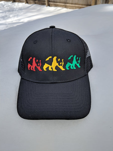 Multi Stencil Mesh Trucker Hat