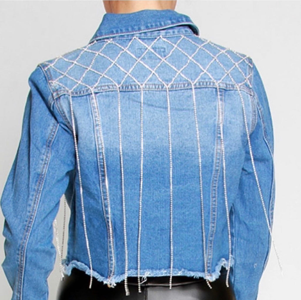 Ice me out denim jacket