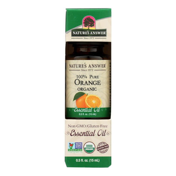 Natures Answer Essential Oil - Organic - Orange - .5 oz