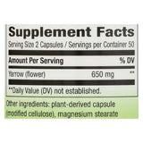 Nature's Way Yarrow Flower - 325 mg - 100 Capsules