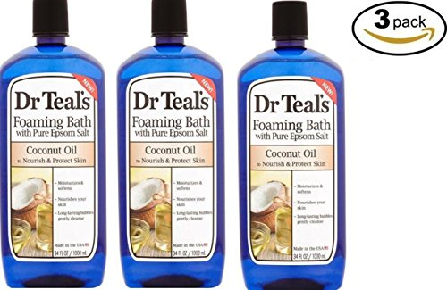 Dr Teals Foaming Bath With Pure Epsom Salt Coconut Oil To Nourish & Protect Skin 34 Fl Oz