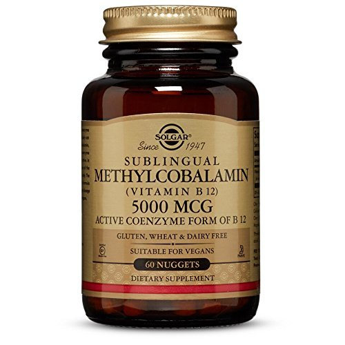 Solgar Methylcobalamin (Vitamin B12) 5000 Mcg Nuggets