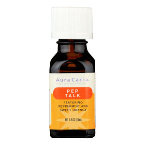 Aura Cacia Essential Solutions Oil Pep Talk Peppermint and Sweet Orange - 0.5 fl oz