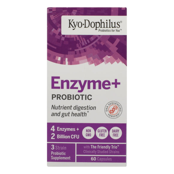 Kyolic Kyo-Dophilus with Enzymes Digestion - 60 Capsules