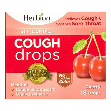 Herbion Naturals - Cough Drops Cherry - 1 Each - 18 CT