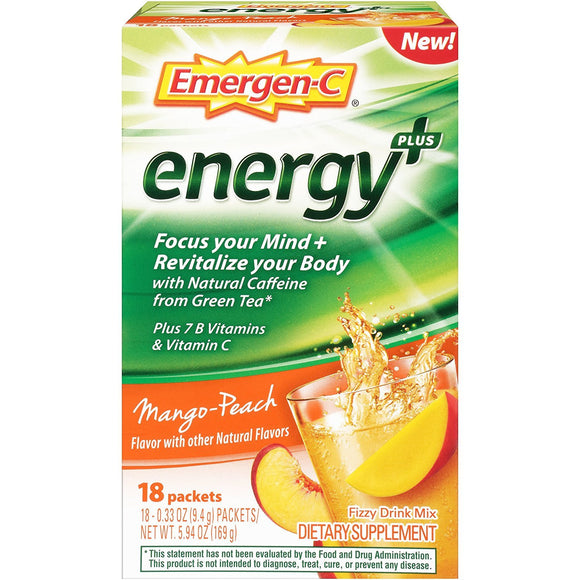 Emergen-c - Energy+ Mango Peach - 1 Each - 18 PKT