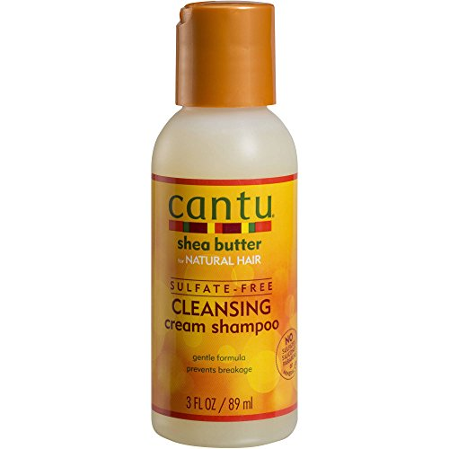 Cantu Shea Butter For Natural Hair Sulfate-Free Cleansing Cream Shampoo 3 Fl Oz Travel Size