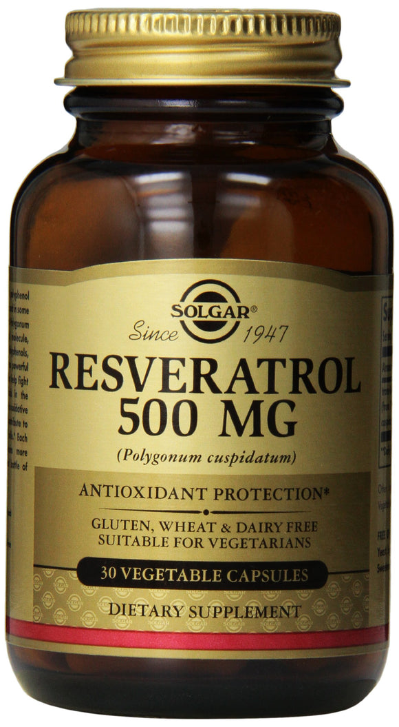 Solgar Resveratrol 500 Mg Vegetable Capsules