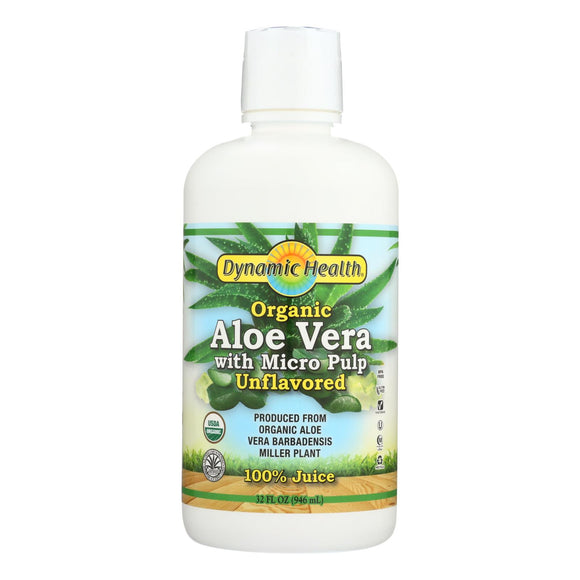 Dynamic Health Organic Aloe Vera Juice with Micro Pulp - 32 fl oz