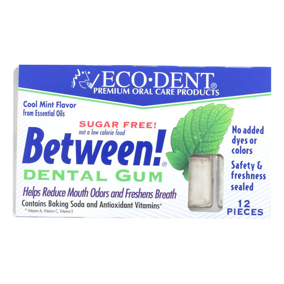 Eco-Dent Between Dental Gum - Mint - Case of 12 - 12 Pack