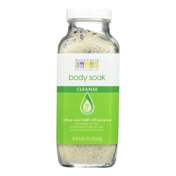 Aura Cacia Body Soak - Cleanse - 18.5 oz - 1 each