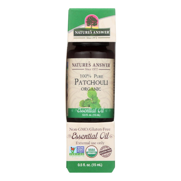 Nature's Answer - Organic Essential Oil - Patchouli - 0.5 oz.
