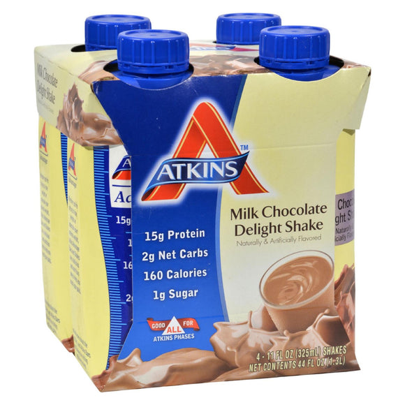 Atkins Advantage RTD Shake Milk Chocolate Delight - 11 fl oz Each / Pack of 4