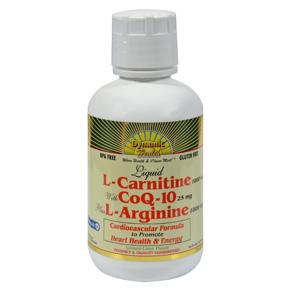 Dynamic Health Liquid L-Carnitine with CoQ-10 plus L-Arginine Lemon Lime - 16 fl oz
