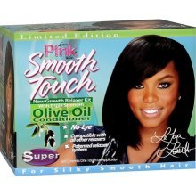 Pink Smooth Touch Extra Virgin Olive Oil No Lye Relaxer Kit Super