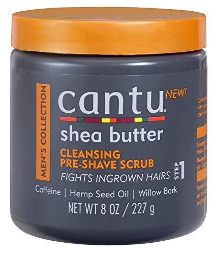 Mens Collection Cantu Shea Butter Cleansing Pre Shave Scrub 8 Oz