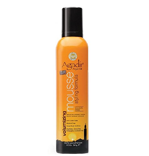 Argan Oil Styling Mousse by Agadir for Unisex - 8.5 oz Mousse