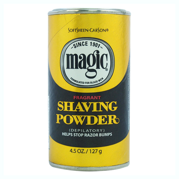 Magic Shaving Powder, Gold Fragrant by Soft Sheen Carson for Men - 4.5 oz Shave Powder