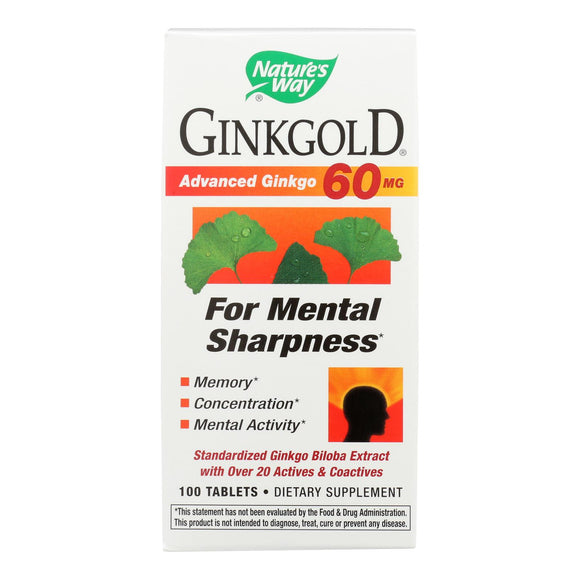 Nature's Way Ginkgold - 100 Tablets
