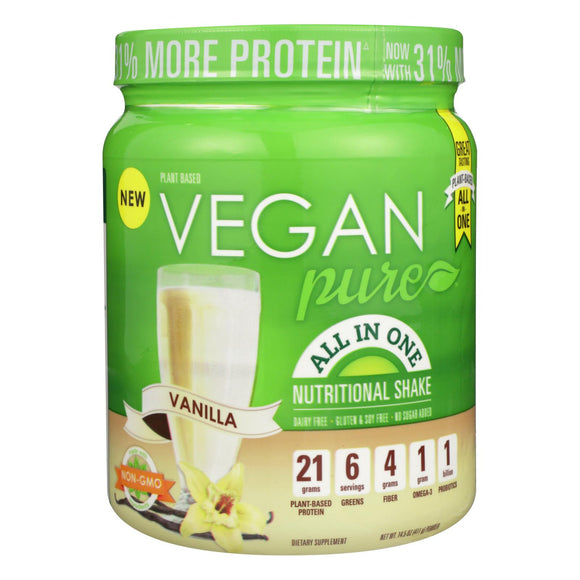 Vegan Pure - Nutritional Shake Vanilla - 1 Each - 19.4 OZ