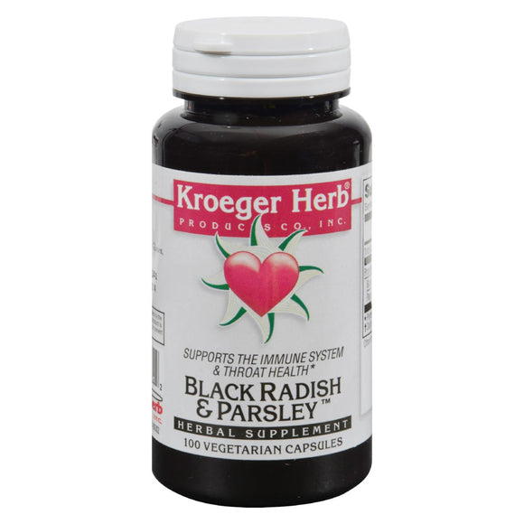 Kroeger Herb Black Radish and Parsley - 100 Capsules