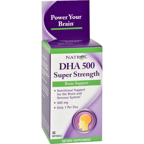 Natrol DHA 500 Super Strength - 500 mg - 30 Softgels