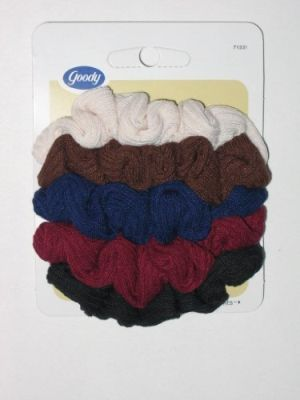 Scrunchie Small Ribbed 5Ct