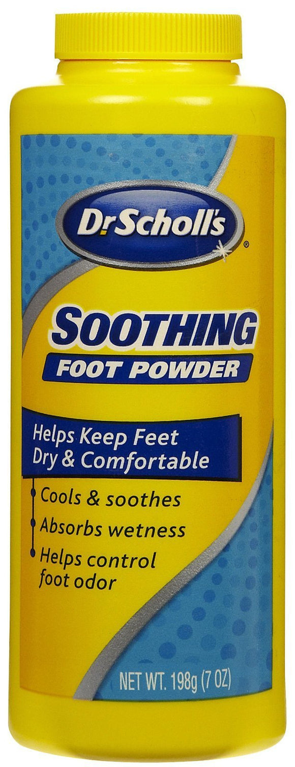 Dr. Scholl'S Soothing Foot Powder, 7oz / Cooling And Soothing Powder With Fresh Scent For All-Day Protection Against Odor And Sweaty Feet