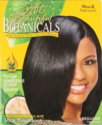 Soft & Beautiful Botanicals No Lye Sensitive Scalp Relaxer Kit Regular