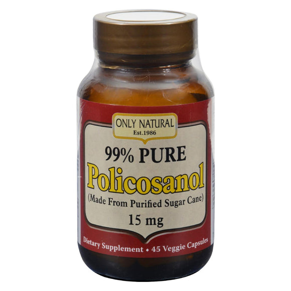 Only Natural Policosanol - 45 Vegetarian Capsules
