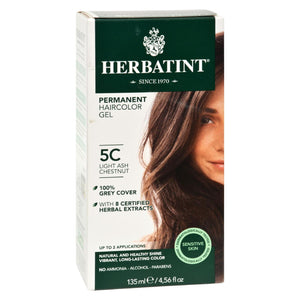 Herbatint Permanent Herbal Haircolour Gel 5C Light Ash Chestnut - 135 ml