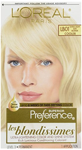 L'Oréal Paris Superior Preference Fade-Defying + Shine Permanent Hair Color, Lb01 Extra Light Ash Blonde, 1 Kit Hair Dye
