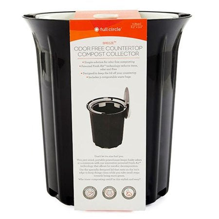 Full Circle Home - Breeze Odor-Free Countertop Compost Collector - Black - 1 Count