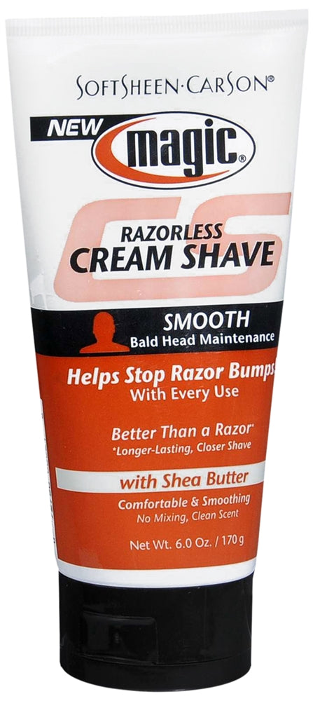 Magic Razorless Shave Cream, Smooth by Soft Sheen Carson for Men - 6 oz Shave Cream