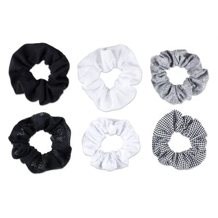 Scrunchies Mixed Texture 6 Pk