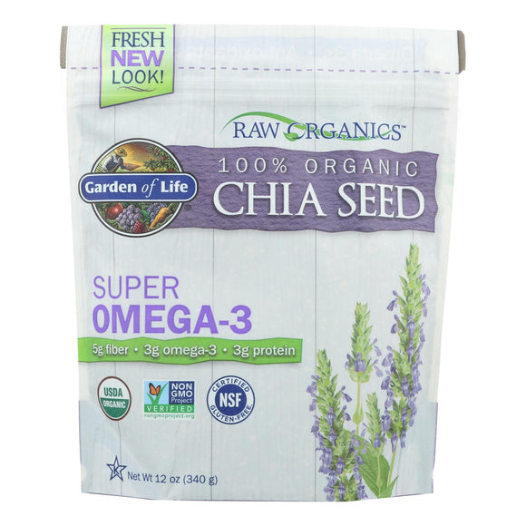 Garden Of Life - Raw Organics Chia Seed - 12 OZ