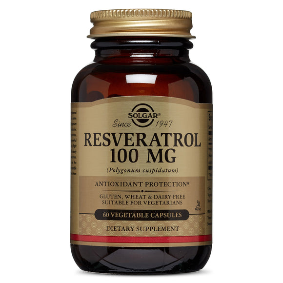 Solgar Resveratrol 100 Mg Vegetable Capsules