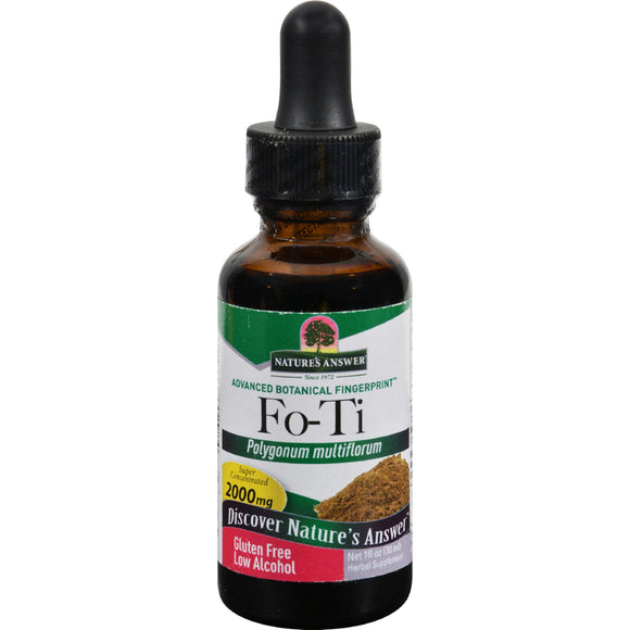 Nature's Answer - Fo-Ti Cured Root - 1 fl oz