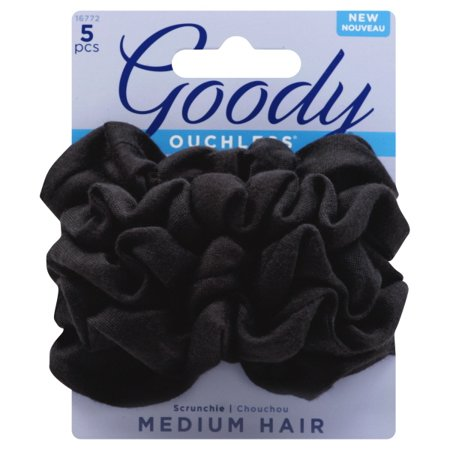 Scrunchies Ol Black 5Ct