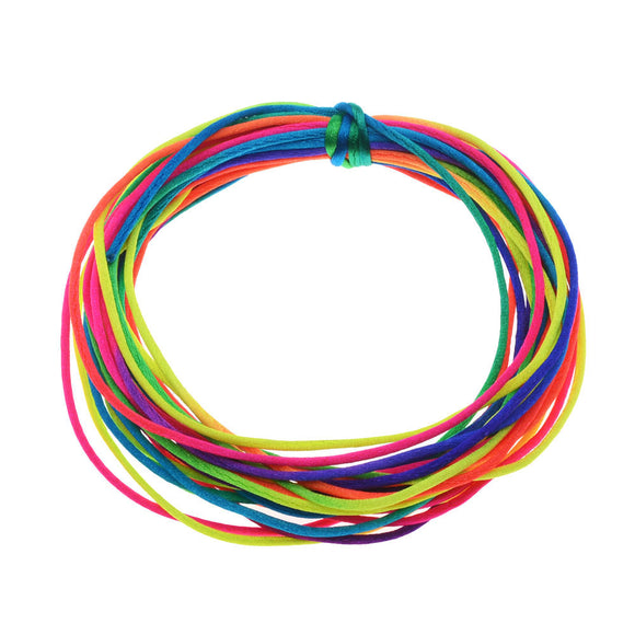 Elastic Grl Brd Rnbow 3Mm 30Ct