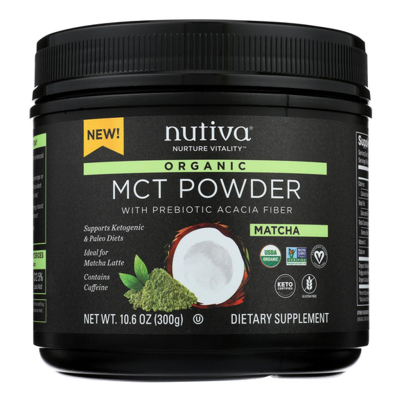 Nutiva - Powder Mct Matcha - 1 Each - 10.6 OZ
