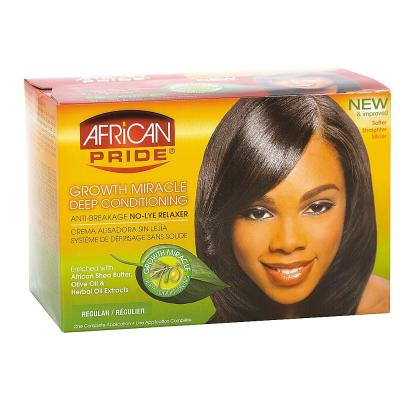 African Pride Olive Miracle Deep Conditioning Anti Breakage No Lye Relaxer Kit Super